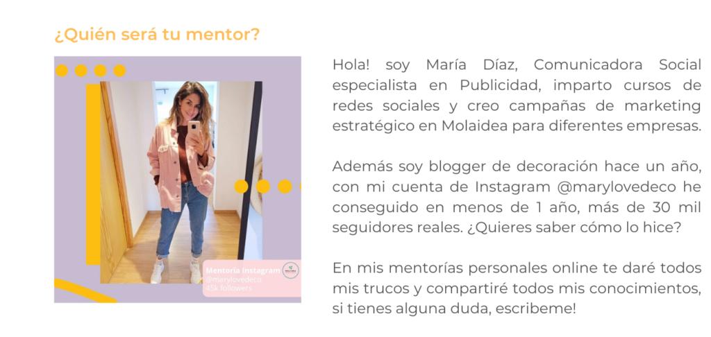 Mentoría de Instagram personalizada 100% online